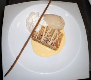 Bizcocho de chocolate blanco Nochevieja Hotel en Gandia 2013