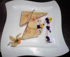 Milhojas de foie Nochevieja Hotel en Gandia 2013