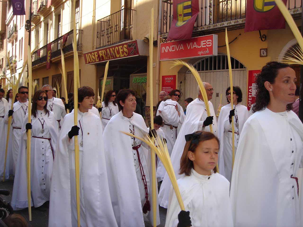 Palmas en las procesiones de semana santa Gandia 2017