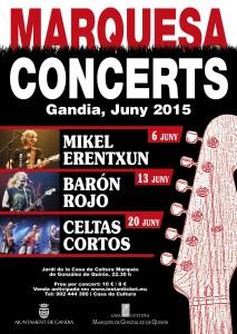 Cartel marquesa concerts gandia 2015