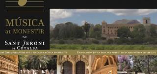 Cartel conciertos Sant Jeroni de Cotalba