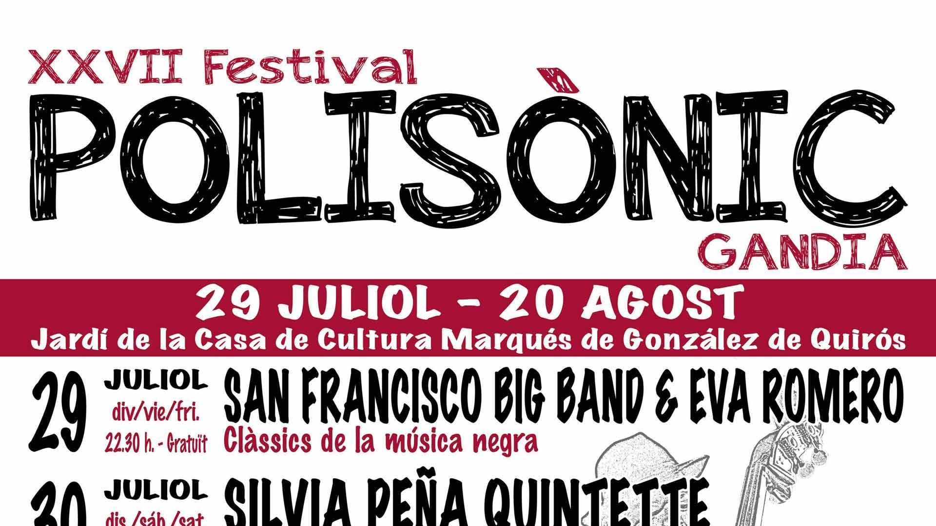 cartel del polisonic festival de musica en Gandia 2016