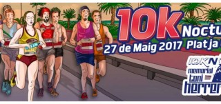 Cartel carrera nocturna 10K playa de Gandia