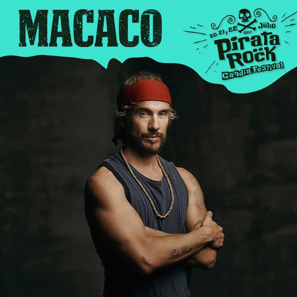 Foto de Macaco para el Pirata Rock Festival actividades en gandia julio2017