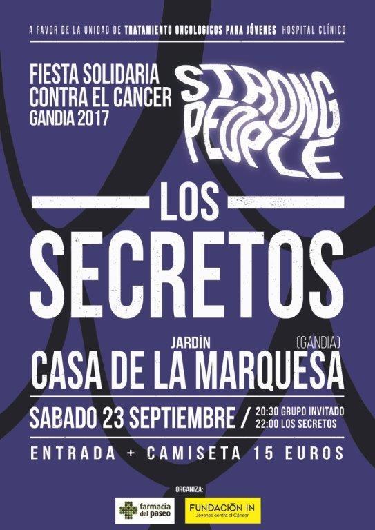 gandia en septiembre 2017 cartel del concierto de los secretos
