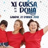 cartel de la Cursa de la Dona Gandia 2018