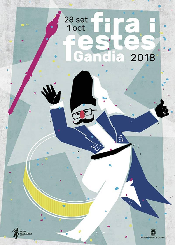 cartel Fiestas Gandia actividades en gandia septiembre 2018