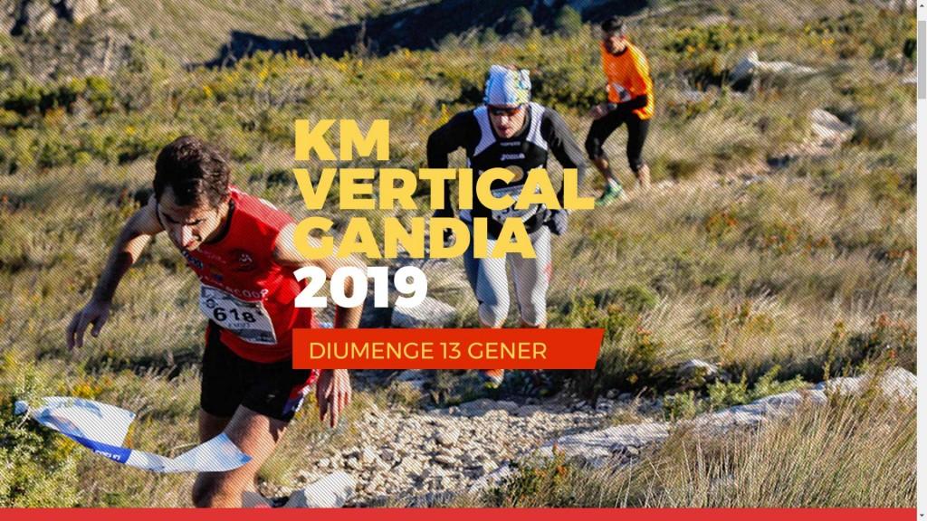 carrera KM vertical guía del ocio Gandia enero 2019