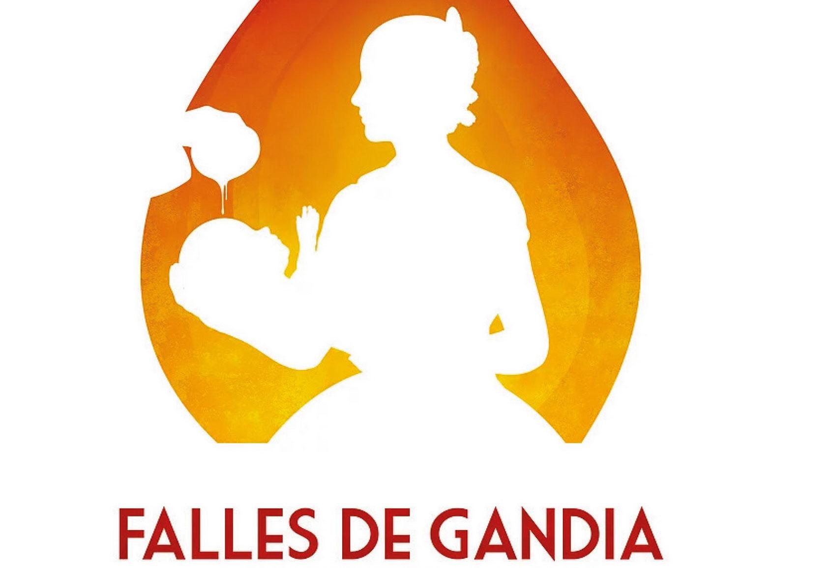 Cartel fallas de la agenda de ocio en Gandia marzo 2019