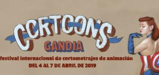 Cartel festival cortoon del Programa actividades en Gandia abril 2019