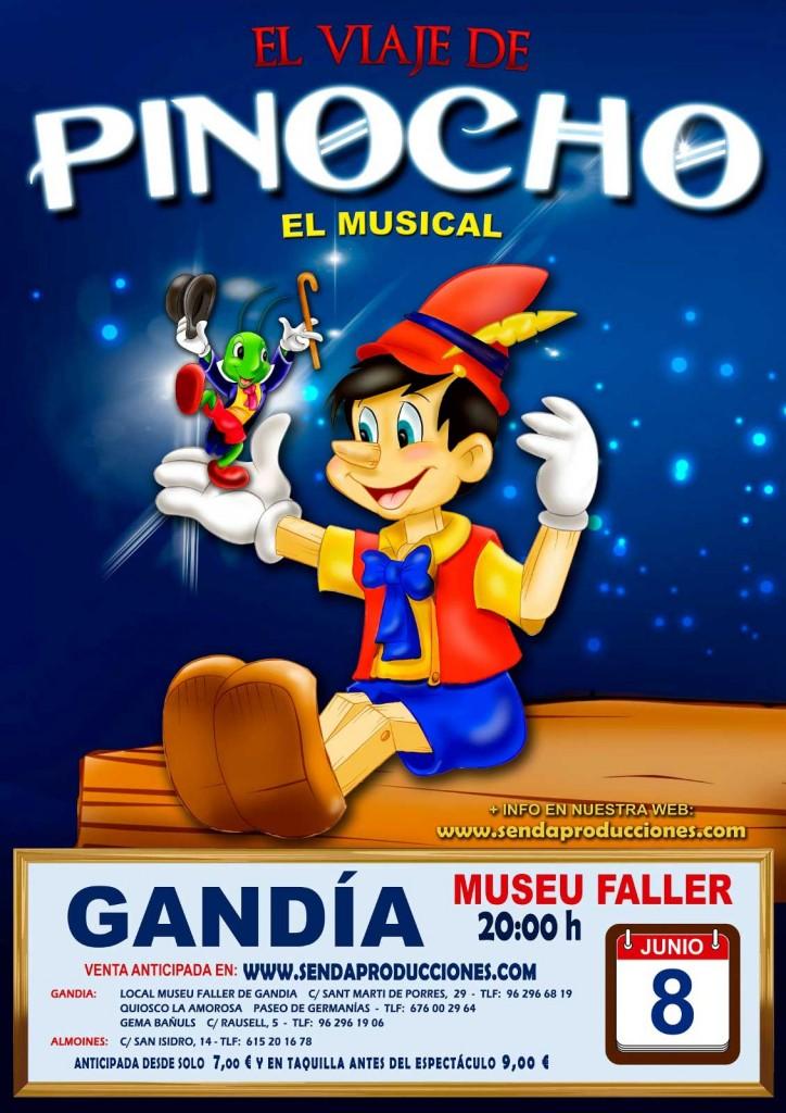 musical Pinocho Guía del ocio Gandia junio 2019