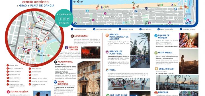calendario de las actividades en Gandia playa julio 2019