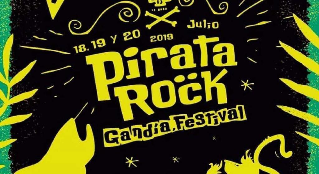 cartel del pirata rock festival una de las actividades en Gandia playa julio 2019