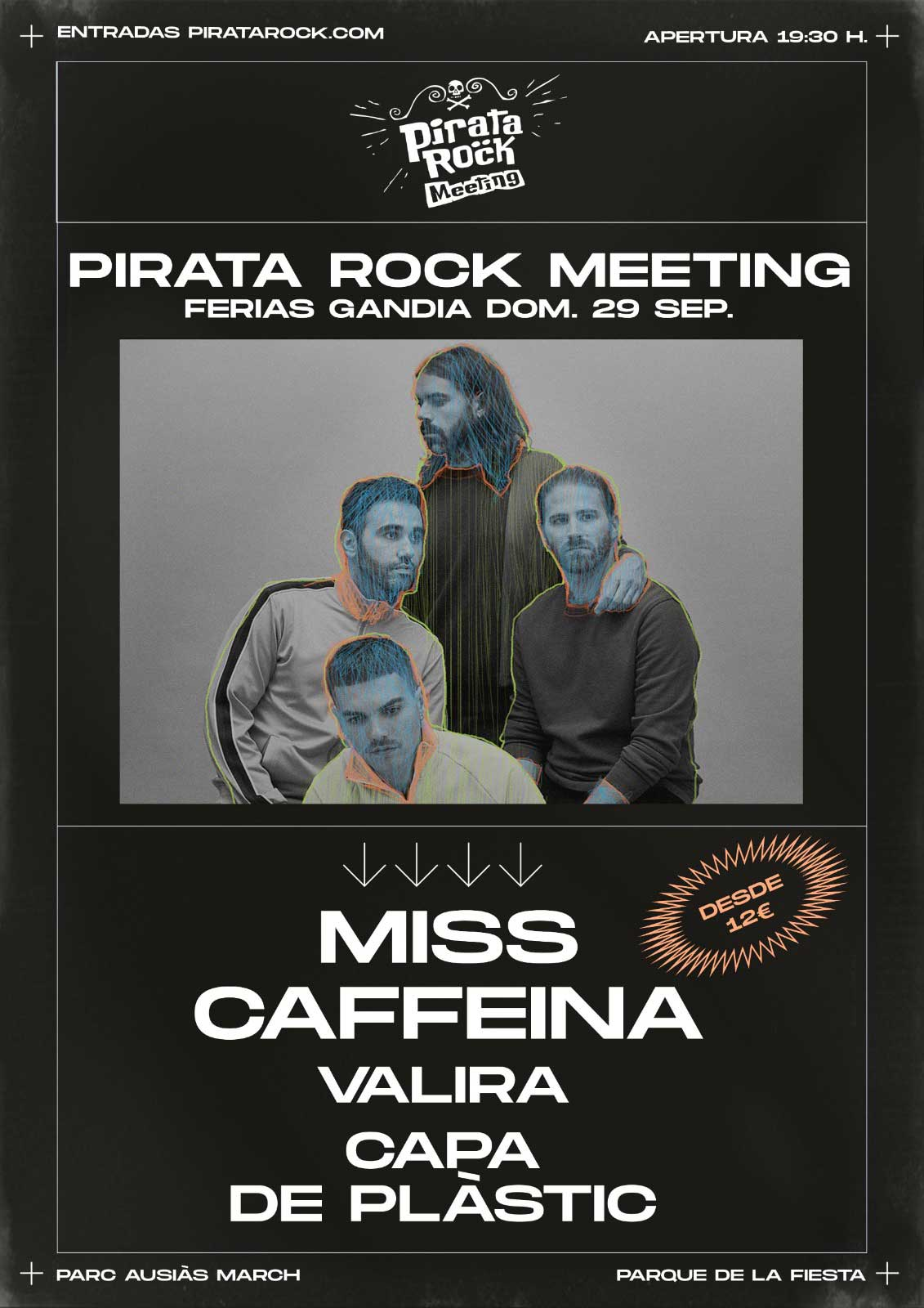 cartel del Pirata rock meeting de las fiestas Gandia 2019