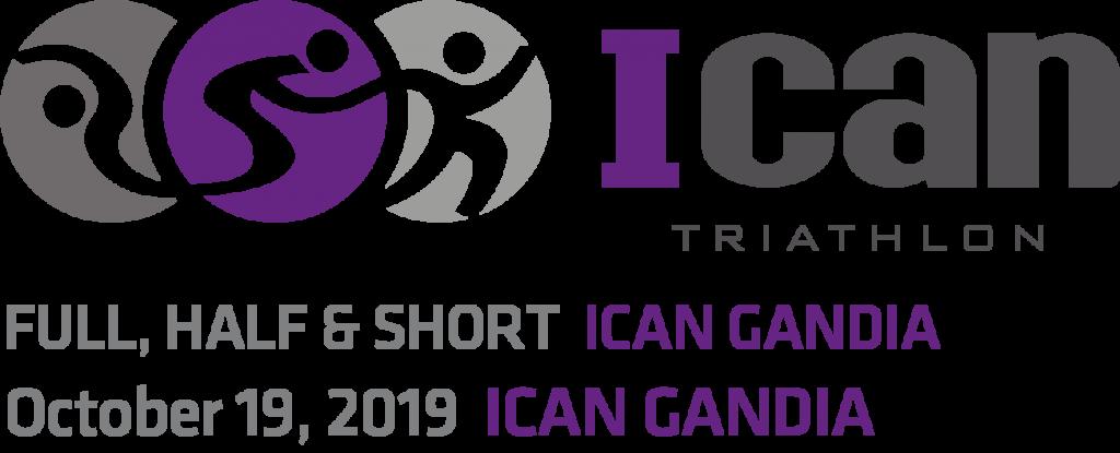 cartel Ican Triathlon en las actividades Gandia octubre 2019