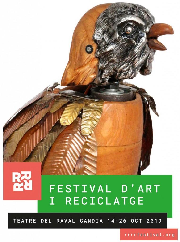 cartel Festival de arte y reciclaje RRRR actividades Gandia octubre 2019